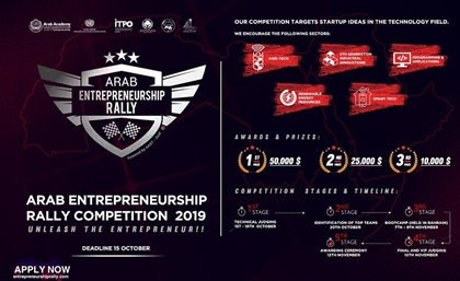 Applications Now Open for the Arab Entrepreneurship Rally 2019